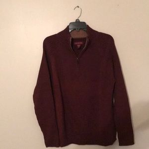 Men's Burgundy Sweater Size Large (42-44)